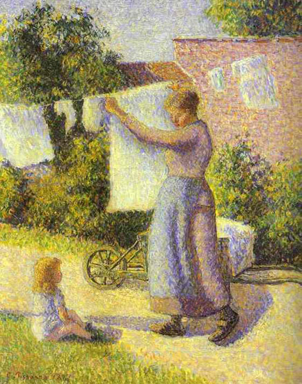 "Camille     arro's ""Woman Hanging Laundry"""